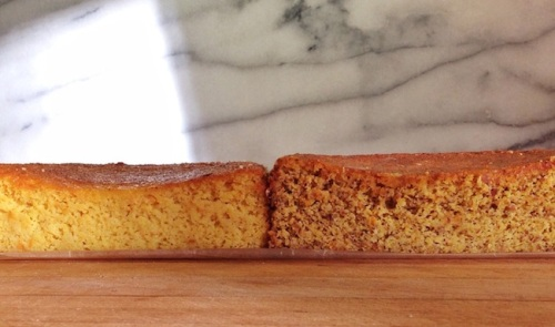 Clementine Almond Cake with and without skin in the almond flour