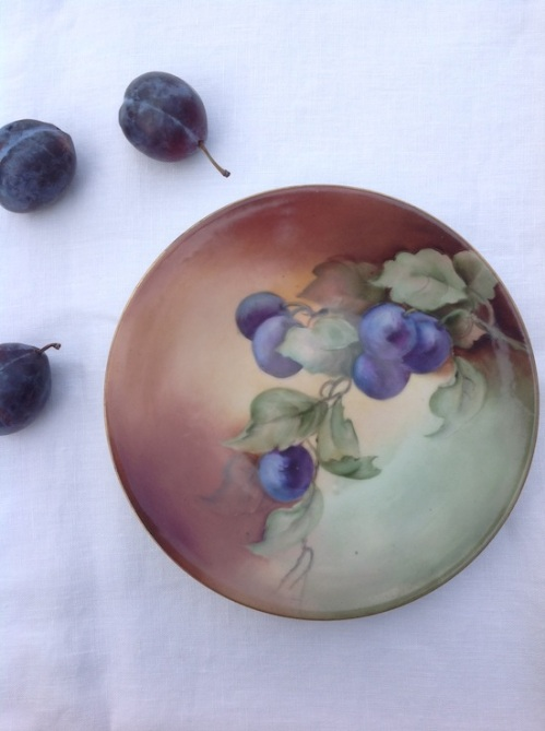 Limoge fall plum plate