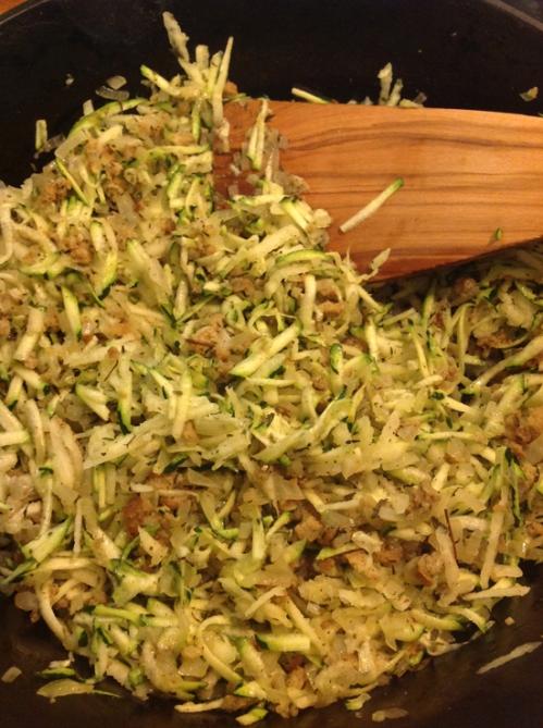 Vegetables for turkey meatloaf