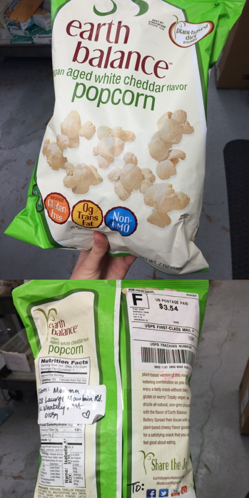 Popcorn happy mail