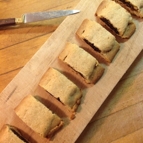 Slices of homemade fig newtons