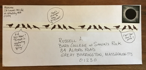 Birds on a wire washi happy mail