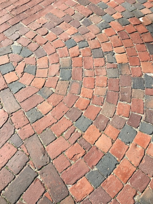 Brick sidewalk Nantucket