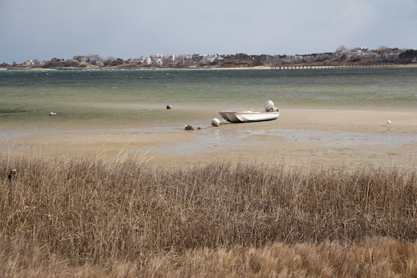 Low tide on Nantucket Island