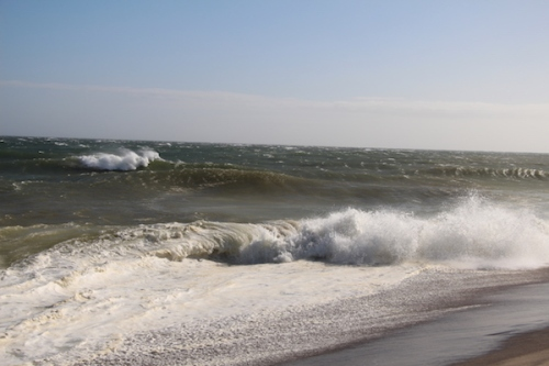 Waves on Sconset Beach Nantucket